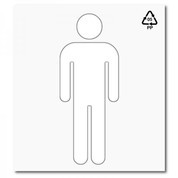 Plantilla para pintar señal silueta de hombre