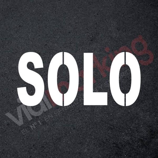 Plantilla pintar señal SOLO L (