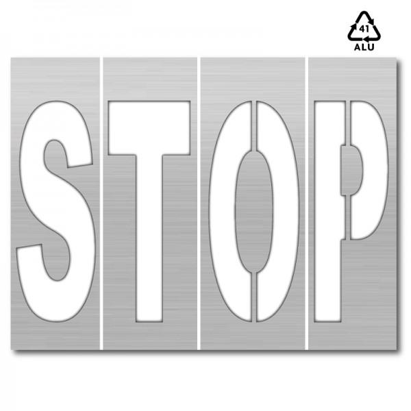 Plantilla stop letras sueltas polipropileno pvc - Plantillas de letras para pintar paredes ...