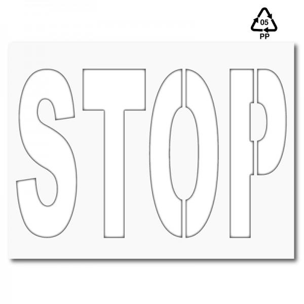 Plantilla STOP (una pieza) polipropileno, pvc, aluminio o metal ...