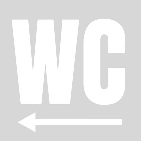 Plantilla para pintar señalética wc con flecha izquierda