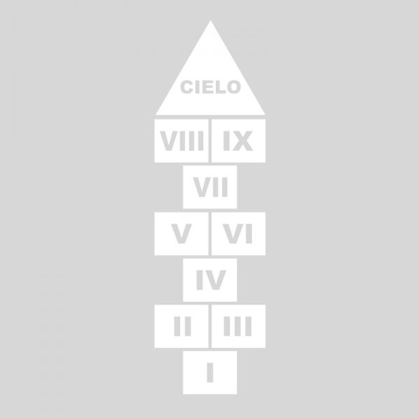 Plantilla pintar juego tradicional RAYUELA 1 ó 3 aspas Números romanos-cielo