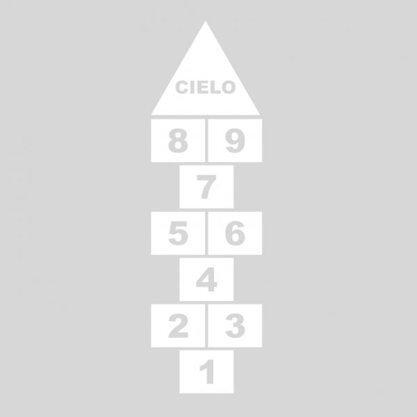 Plantilla pintar juego tradicional RAYUELA 1 ó 3 aspas Números-cielo