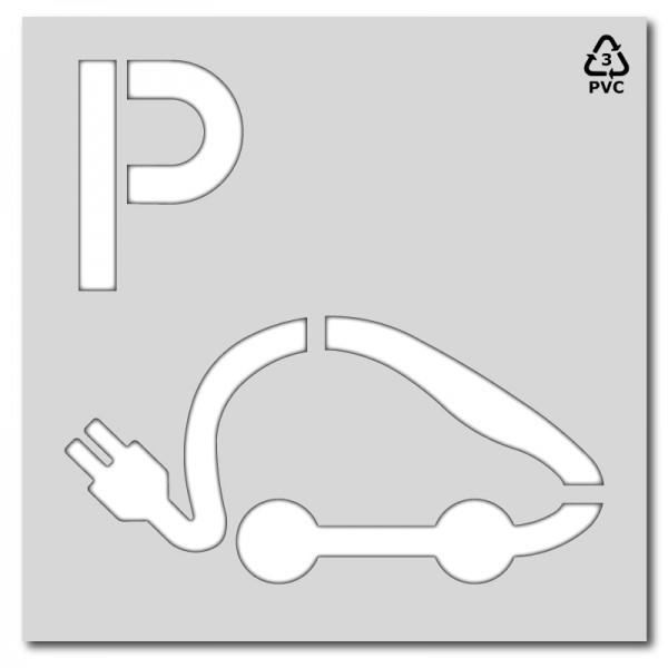 Plantilla rotulación parking coche eléctrico