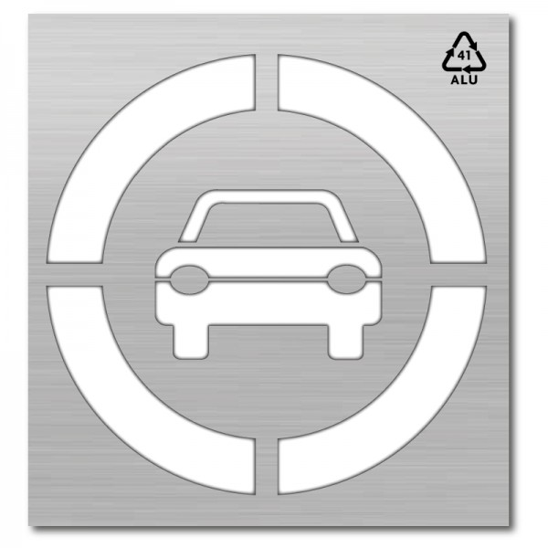 Plantilla pintar señal prohibido el paso a vehículos XL