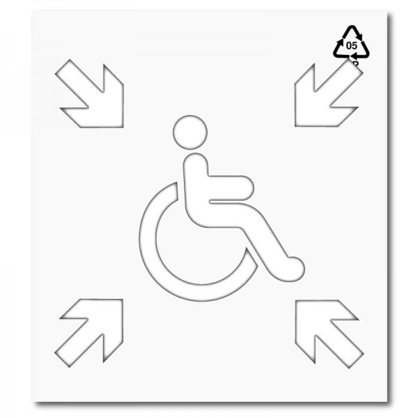 Plantilla pintar señal punto de encuentro accesible