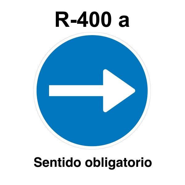 Señal de circulación R400a Sentido Obligatorio