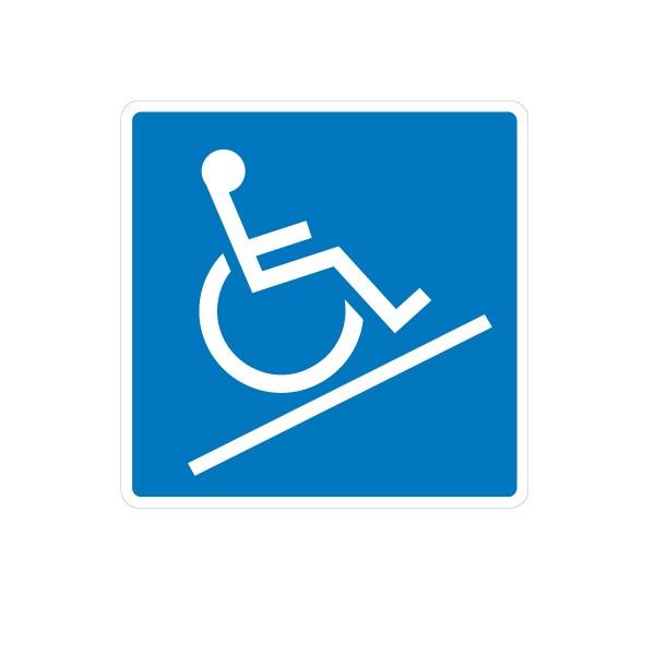 Vinilo se alizaci n adhesivo se al acceso rampa for Rampa de discapacitados