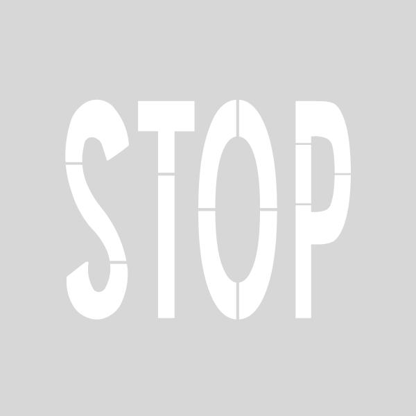 Plantilla pintar señal STOP normativa vía <60 km/h