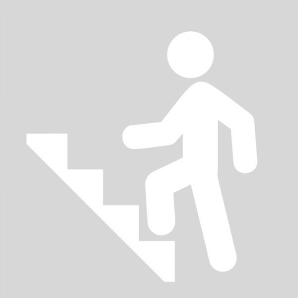 Plantilla pintar señal de escalera de emergecia