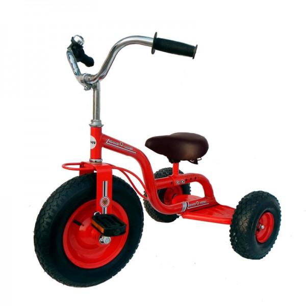 Triciclo escolar diseñado para parques y circuitos infantiles de tráfico