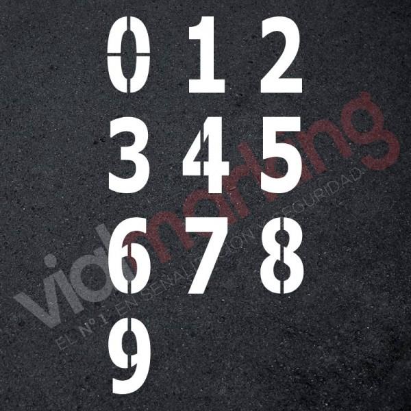 Pack 10 plantillas números 90 cm para pintar en pared y suelos