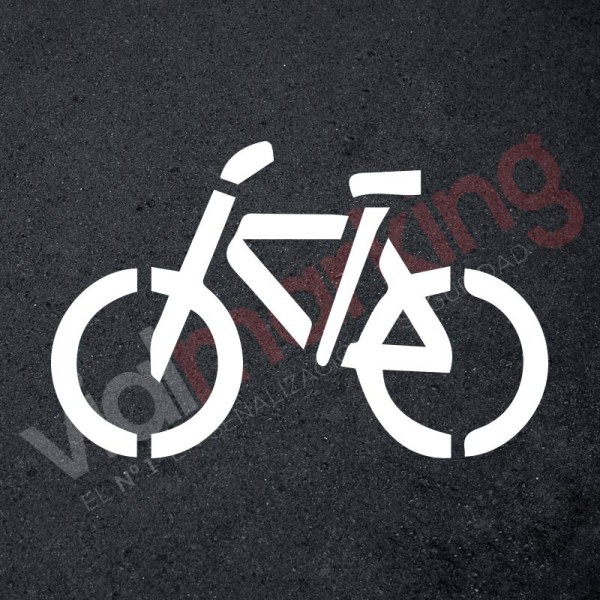Plantilla pintar señal aparcamiento bicicleta