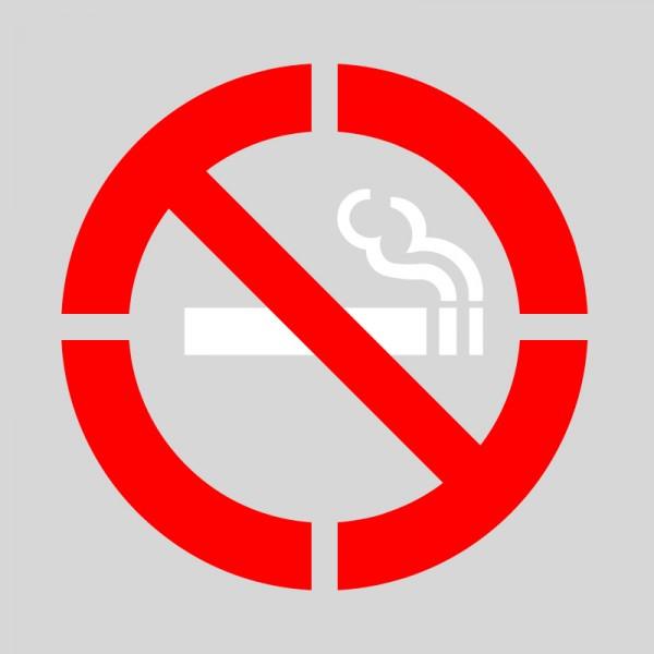 Pack 2 plantillas pintar señal prohibido fumar varios colores
