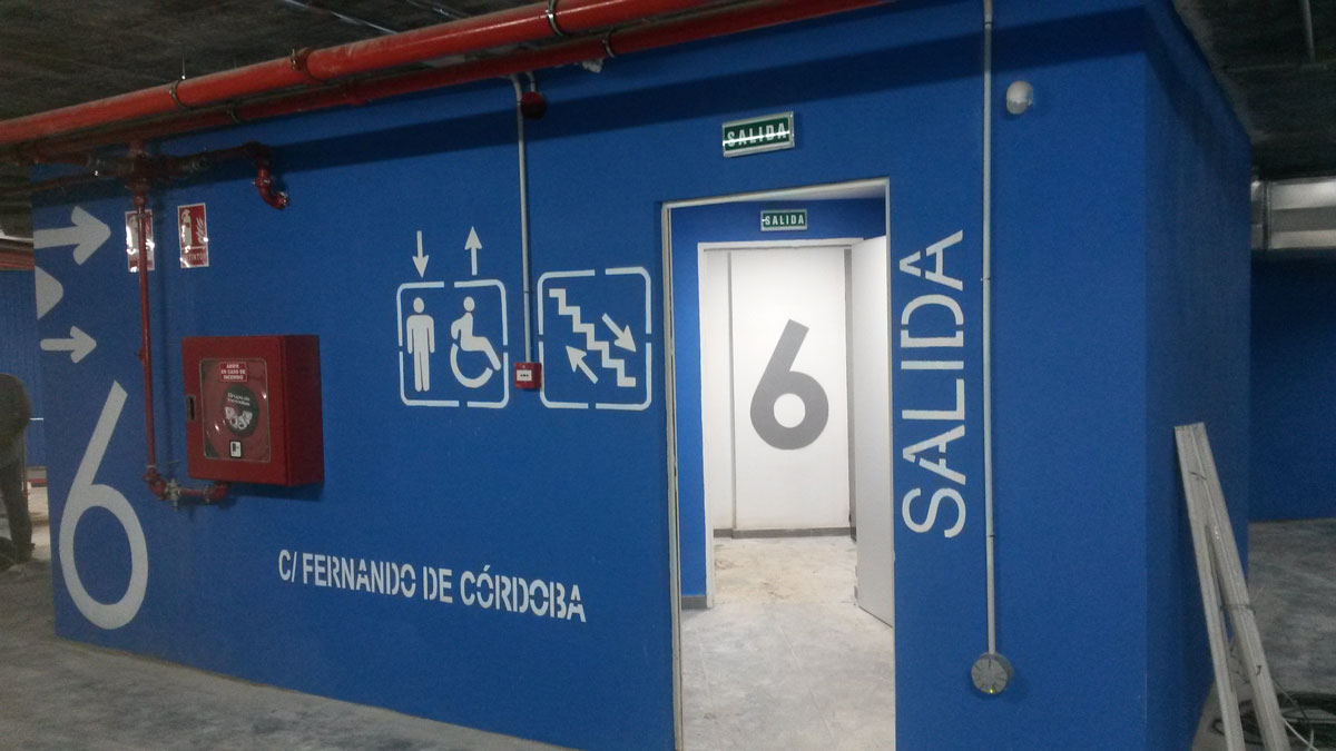Pintura seguridad parking