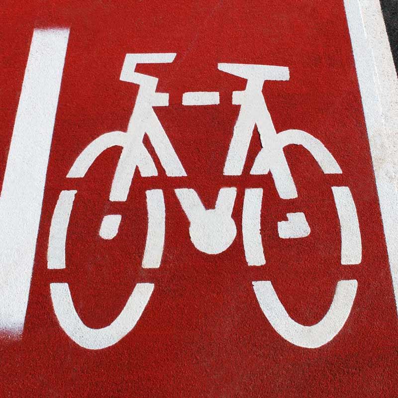 Plantilla para señalización Carril bici